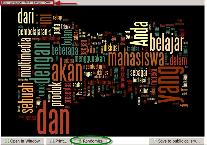 Membuat Awan Kata dengan Wordle | mrbaboBlog